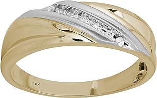 خاتم رجالي من الذهب الأصفر عيار 10 قيراط