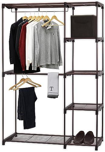 popular Simple Houseware Freestanding Clothes Garment discount wholesale Organizer Closet, Bronze online