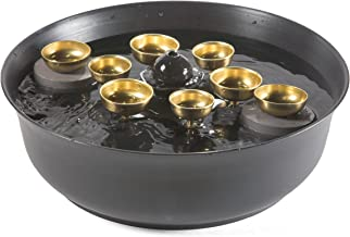 Woodstock Chimes WEWBF Encore Water Bell Fountain, Brass and Black