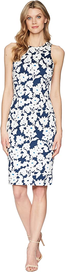 Adrianna Papell Daisy Field Sleeveless Bodycon Dress