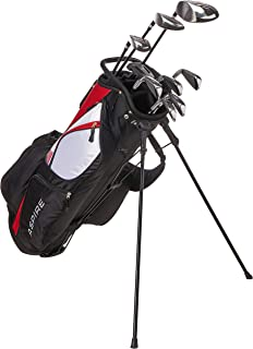 Aspire XD1 Men's Complete Golf Clubs Package Set Includes Titanium Driver, S.S. Fairway, S.S. Hybrid, S.S. 6-PW Irons, Putter, Stand Bag, 3 H/C's Right Hand