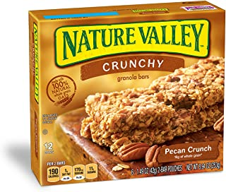 Nature Valley Granola Bars, Crunchy, Pecan Crunch, 8.94 Ounce, Pack of 12 (144 count)