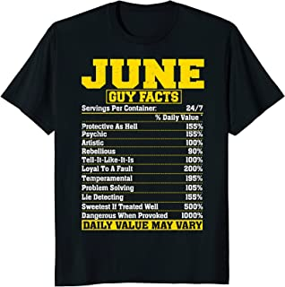June Guy Nutrition Facts T-shirt Gemini Gifts
