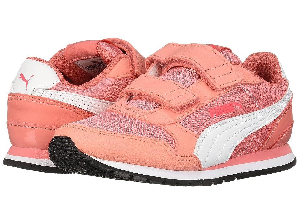 Puma Kids ST Runner V2 Mesh V (Little Kid) (Shell Pink/Puma White) Girl