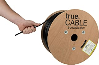 trueCABLE Cat5e Outdoor Shielded (FTP), 1000ft, Waterproof Direct Burial Rated CMX, 24AWG Solid Bare Copper, 350MHz, ETL Listed, Bulk Ethernet Cable