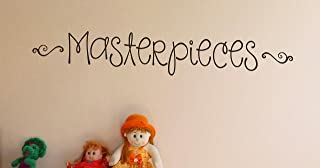 Wall Decor Plus More WDPM3162 Sticker Lettering Masterpieces for Kids Artwork Display area, 36-Inch x 6-Inch, Chocolate Brown