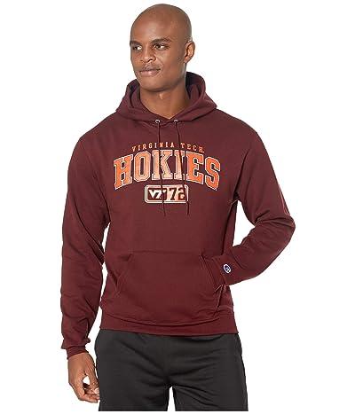 Champion College Virginia Tech Hokies Eco(r) Powerblend(r) Hoodie (Maroon 2) Men