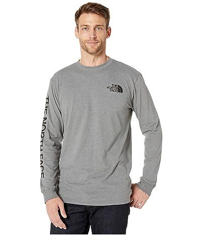 The North Face Long Sleeve Brand Proud Cotton Tee (TNF Medium Grey Heather) Men