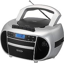 Jensen CD-550SMP3 Top-Loading Boombox CD/MP3 Black Series CD/MP3 AM/FM Radio Cassette..