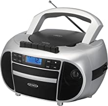 Jensen CD-550SMP3 Top-Loading Boombox CD/MP3 Black Series CD/MP3 AM/FM Radio Cassette..