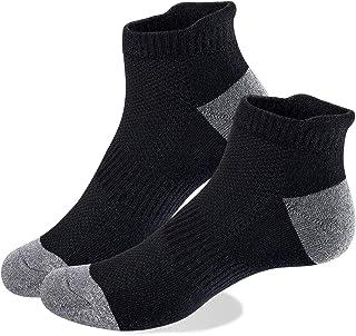 VoJoPi 5 Pares Calcetines Running Hombre, Calcetines Deporte Tobilleros con Anti-Rozaduras, Calcetines Algodon Transpirabl...
