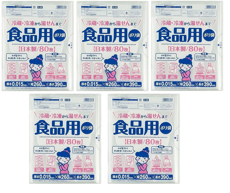 葬儀コールオート【5袋セット】(80枚×5袋で合計400枚)食品用ポリ袋 80枚 冷蔵?冷凍から湯せんまで (5)