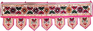Indian Handmade Traditional Embroidered Toran Cotton Thoranam Door Living Room Decor..