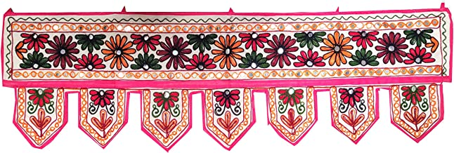 Indian Handmade Traditional Embroidered Toran Cotton Thoranam Door Living Room Decor..