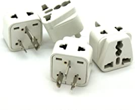 2 in 1 US, British and European to Australia, New Zealand, Fiji, Parts of China Travel Plug Adapter - CE Certified - 4 Pack