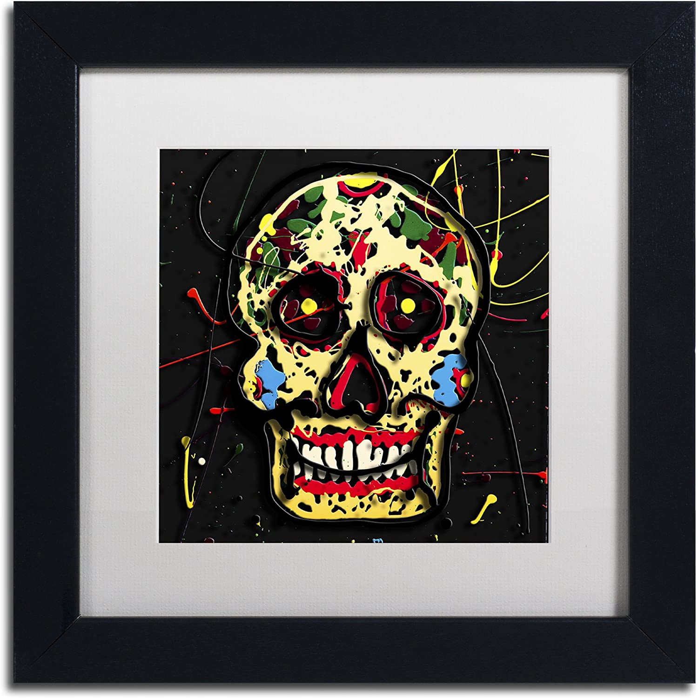 Trademark Fine Art Muertos 1 by Roderick Stevens Frame, 11 by 11Inch, White Matte