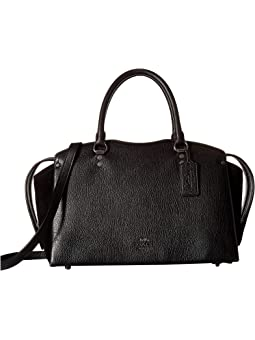 코치 드류 사첼백 COACH Drew Satchel,Black/Gunmetal