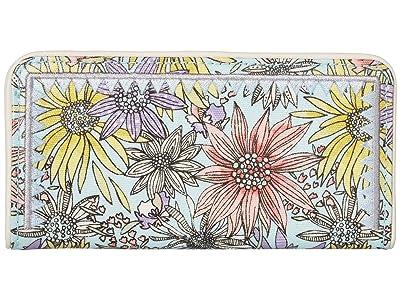 Sakroots Artist Circle Slim Wallet (Pastel Flower Garden) Wallet Handbags