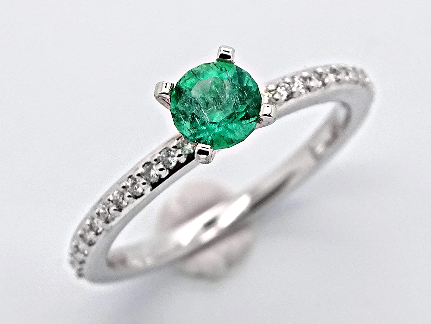 emerald diamond ring Outstanding Cheap white solitaire engagement gold