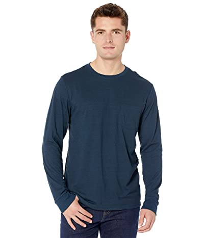 Threads 4 Thought Tri-Blend Long Sleeve Pocket Tee (Midnight) Men