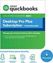 QuickBooks Desktop Pro Plus 2021 Accounting Software for Small Business 1-Year Subscription with Shortcut Guide [PC Downlo...