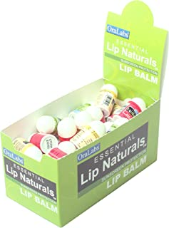 Essential Lip Naturals | Mini Lip Balm Assorted Flavors - Approximately 50ct (Vanilla Bean, Tea Tree Mint, Bing Cherry)[SPF-15]
