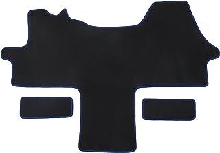 Alpha Tex Fußmatte 1614   Autoteppich (1 TLG. + 2 Einstiege in Qualität Classic schwarz, Umrandung schwarz)