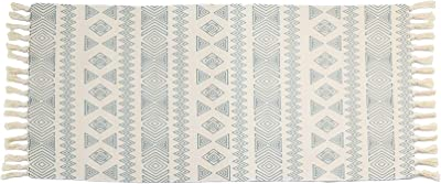Lovelyduo Cotton Area Rugs with Tassels Washable Rug Mat for Entryway Bedroom, Kitchen, Laundry Room(Geometric,4.2x1.9 Feet)