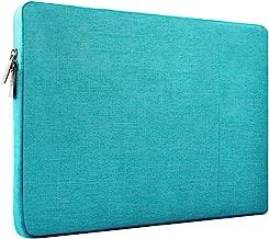 HSEOK 15,6 Pouces Housse de Protection Ordinateur Portable, Laptop Sleeve Case PC Netbook Ultrabook Sacoche Compatible 15-15,6 Pouces pour MacBook Acer ASUS Dell Lenovo HP Toshiba,Bleu de Lin