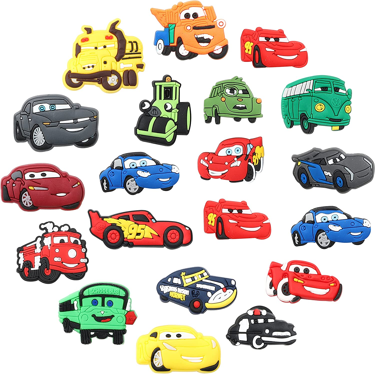 VERSRH Free shipping Max 77% OFF 20PCS Race Car Shoe Charm Decoration Kids for