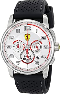 Ferrari Men's 0830064 Analog Display Japanese Quartz Black Watch