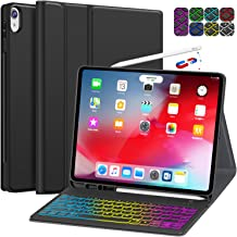 iPad Pro 12.9 Case with Keyboard 2018 3rd Gen (Not for 2017/2015) - 7 Colors Backlight/Hundreds of DIY - Detachable Wireless Keyboard with Charging Pencil Holder for iPad Pro 12.9 Inch 2018