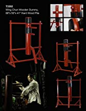Wing Chun Wooden Dummy IP Man Jeet Kune Do Martial Arts Training with Striking Protective Pads