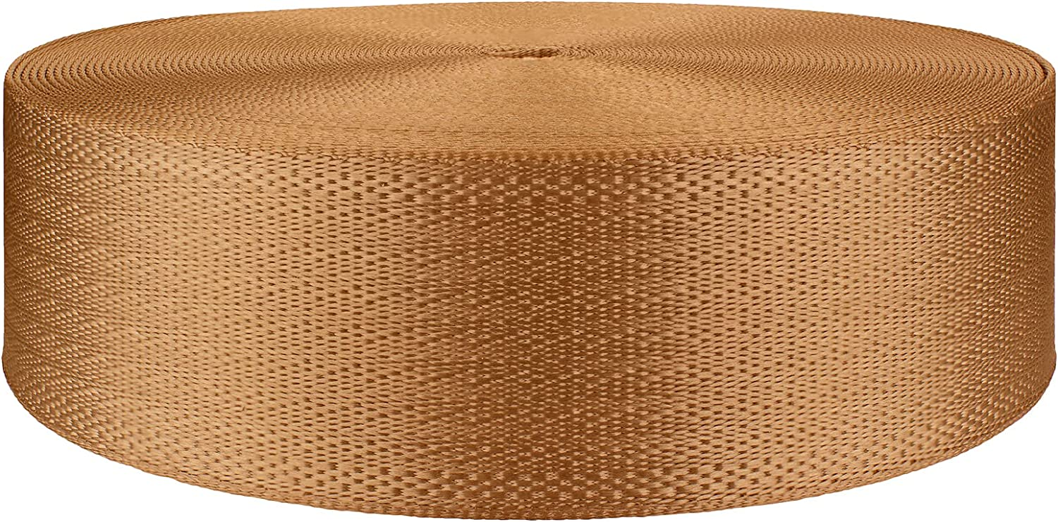 New mail order 2 Inch Copper Closeout Webbing Polyester Fees free