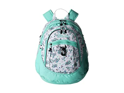High Sierra Fatboy Backpack (Star Floral/Aquamarine/White) Backpack Bags