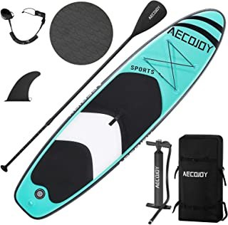 """AECOJOY 10'6×32""""×6"""" Inflatable Stand Up Paddle Board for All Skill Level, Surf Board with Adjustable Paddle, Non-Slip Deck..."""