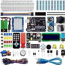 Smraza Super Starter Kit Project Kit with Breadboard, Power Supply, Jumper Wires, Resistors, LED, LCD 1602, Sensors, Detai...