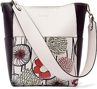 BROMEN Handtasche Handtasche Damen Leder Schultertasche Umhängetasche Groß Shopper Designer Tasche mit 2 Trageriemen Blumen