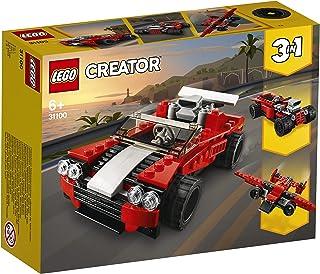لعبة تركيب 3 في 1 من ليغو 31100 كرياتور، مجموعة سيارات رياضية - هوت رود - بناء الطائرة، للأطفال بعمر 7 سنوات فما فوق