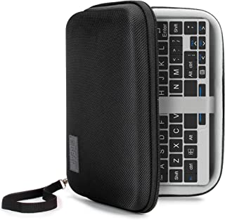USA Gear GPD Pocket 7 Inch Mini Laptop PC Hard Shell Storage Travel Case - Compatible with 7 Inch Small Notebook UMPC Computer by GDP with Weather and Water Resistant Exterior, Interor Mesh Pouch