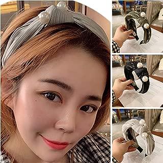 Pearl Headbands for Women Turban Headbands Fashion 3 pcs for Women Wide Headbands for Women Knot Headband