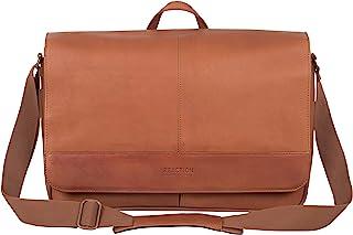 "Kenneth Cole Reaction Come Bag Soon Leather 15.6"" Messenger Laptop Messenger Bag"