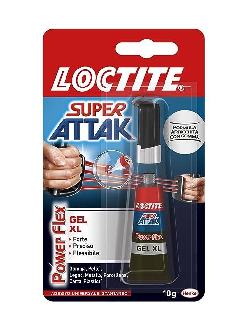 553 opinioni per Loctite Super Attak Power Flex Gel XL, Adesivo Istantaneo trasparente, 1x10g