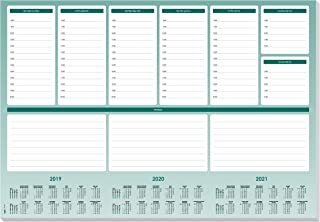 Sigel HO500 Paper Desk Pad, Weekly Planner Maxi, 3-Year Calendar, 59.5 x 41 cm, 80 GSM, 52 Sheets
