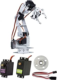 Science Coding Robot Arm Clamp Kit 6 DOF Robotics Arm w/Claw - Servo Arduino Ctrl USA - Quick Delivery