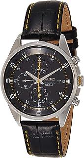 SNDC89P2 - Men's Watch - Quartz Chronograph - Black Dial - Black Leather Strap