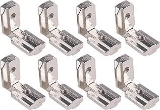 PZRT 8-Pack T Slot L-Shape Corner Bracket, 2020 Series 90 Degree Aluminum Profile Interior Joint - with M4 Screws,Suitable for 6mm Slot Aluminum Extrusion Profile