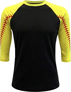 Baseball Softball Raglan Tshirt Jersey Kids & Adult Unisex Mom Sports Athletic