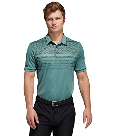 adidas Golf Core Novelty Polo (Tech Emerald) Men
