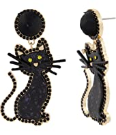 Black Cat Earrings 32869